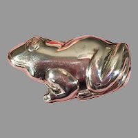 Mexican Sterling Silver Frog Pin/Pendant