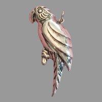 925 Silver Parrot Pendant