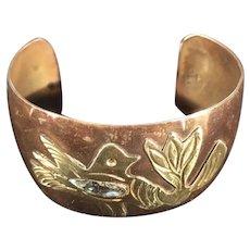 Copper Brass Abalone Mexican Cuff bracelet