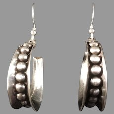 Mexican Sterling Silver High Polish Earrings