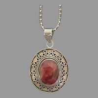 Samuel Benham ruby and Silver Pendant
