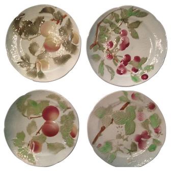 St Clements French Majolica Fruit Plates circa 1920
