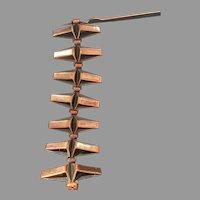 Renoir Copper Triangular link Bracelet
