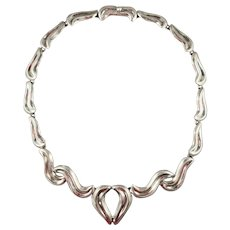 Taxco Modern Heart Necklace