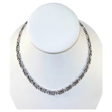 Sterling Silver and Marcasite  Necklace and Bracelet