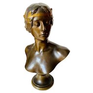 Georges Bareau  Bronze Sculpture Bust