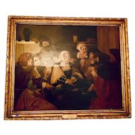 XV century Oil on wood attributed to Lucas Van Leyden