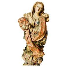 XVII century Virgin Statue