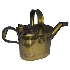 Brass hot water pot, water pitcher, 3 quart, for bath or bowl and pitcher