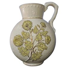 Avalon Balt Faience majolica pitcher from Chesapeake Pottery, Baltimore, Maryland.