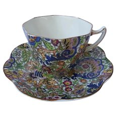 Rosina paisley chintz cup and saucer
