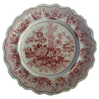 Vintage Tuscan Rose English Transferware plate