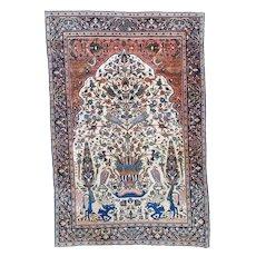 Antique Fereghan Sarouk Oriental Rug 4'3″ X 6'5″ #5942
