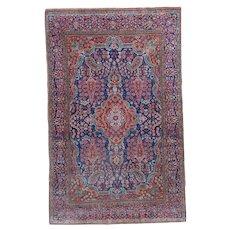 Kashan Antique Oriental Rug 4'3″ X 6'9″ #6454