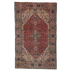 4'1″ X 6'8″ Fereghan Sarouk Antique Oriental Rug #7585
