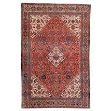 Antique Fereghan Sarouk Persian Rug 4'3″ X 6'5″ #6830