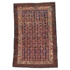 """4'6"""" X 7'0""""  Antique Shirvan Oriental Caucasian Rug #7852"""