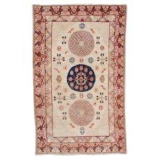 5'0″ X 8'1″ Antique Khotan Oriental Rug #7509