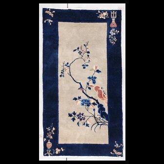 3'0 x 5'8″ Art Deco Chinese Oriental Rug #7327