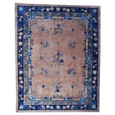 """9'0″ x 11'10"""" Antique Peking Chinese Oriental Rug #7544"""