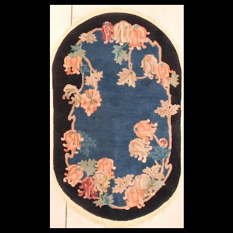 3'1 x 5'2 Art Deco Chinese Oriental Rug #7645