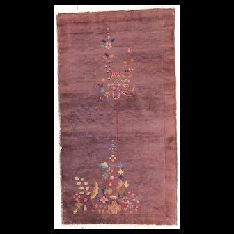3'2″ X 5'8″ Art Deco Chinese Oriental Rug #7653