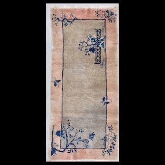 "3'1"" X 6'9""  Fette Art Deco Chinese Oriental Rug #7816"