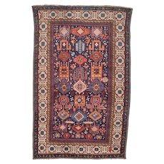 """4'6"""" X 7'0"""" Antique Shirvan Oriental Caucasian Rug #7855"""