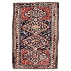 """4'0"""" X 5'9"""" Antique Shirvan Oriental Caucasian Rug  #7853"""