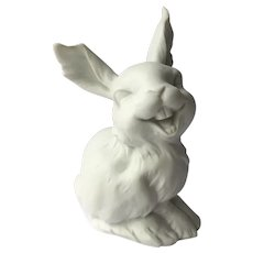 Kaiser Figurine Funny Laughing Bunny Rabbit White Bisque