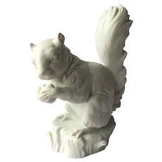 Kaiser Figurine Squirrel Holding Nut White Bisque