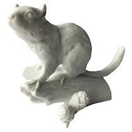Kaiser Figurine Chipmunk #674 White Bisque