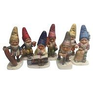 7 Co-Boy Goebel Gnome Figurines W. Germany