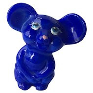 Fenton NFGS Exclusive Periwinkle Blue Mouse Figurine