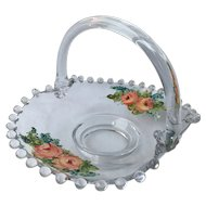"Painted Roses Candlewick 6.5"" Basket 400/40"