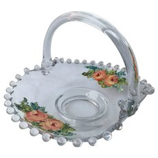 """Painted Roses Candlewick 6.5"""" Basket 400/40"""