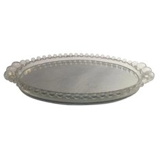 Imperial Candlewick Mirror Dresser Tray Oval