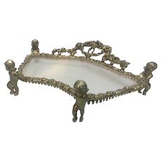 Cherub Vanity Dresser Tray or Trinket Holder