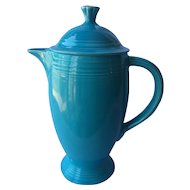 Fiesta Turquoise Blue Coffee Pot with Lid