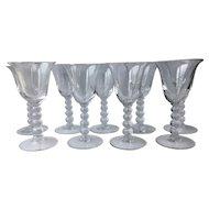 "Set of 9 Candlewick 3400 Wine Glasses 5.5"""