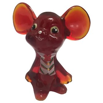 Fenton Red Mouse with Holiday Vest