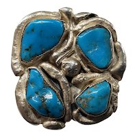 925 Sterling Silver Hand Made Turquoise Ring