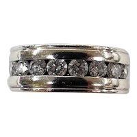 14K White Gold Men's Diamond Band Ring