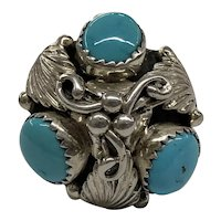 Vintage 925 Sterling Silver Turquoise Ring