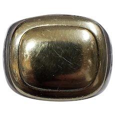 14K Yellow Gold & 925 Sterling Silver David Yurman Ring