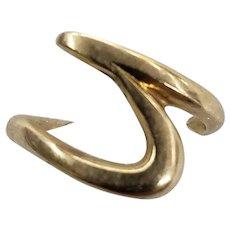 14 Karat Yellow Gold Wave Ring
