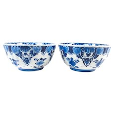 Set of two Delft Blue bowls by Porceleyne Fles