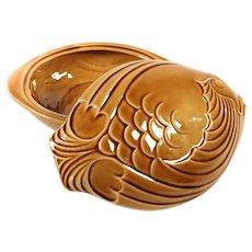 French Majolica Tureen Fish shaped Sarreguemines