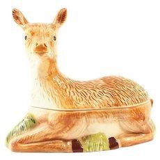 French Majolica Pate Tureen Deer shaped Michel Caugant