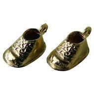"Vintage ""14 karat"" Gold Baby Shoe Charms"